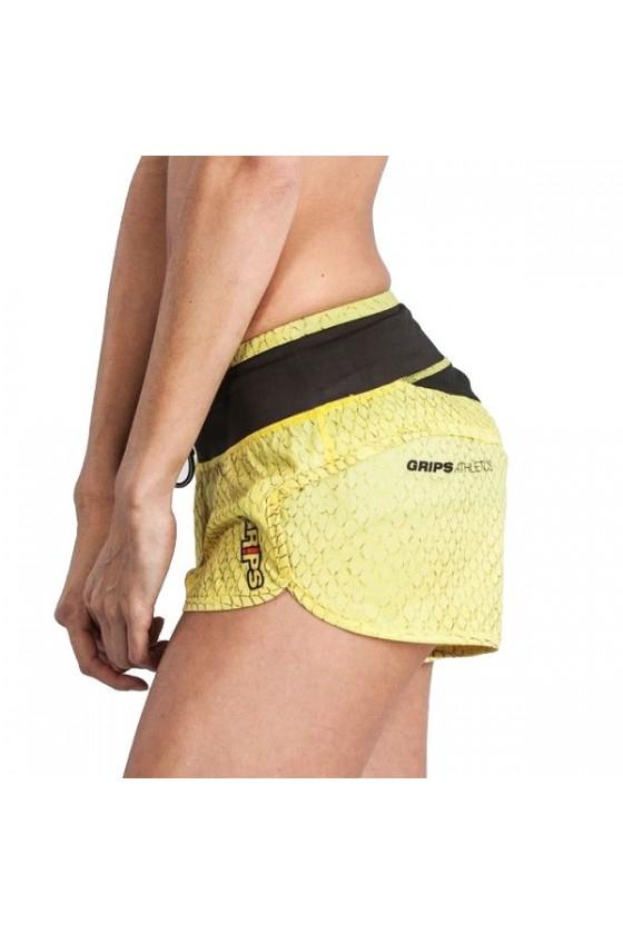 Женские шорты Grips Dragon жёлтые