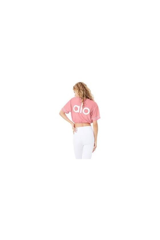 Укороченная футболка Frontline Macaron Pink/White
