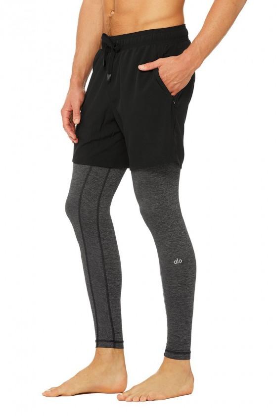 Компресійні штани + шорти Stability 2-In-1 Black / Dark Grey Marl