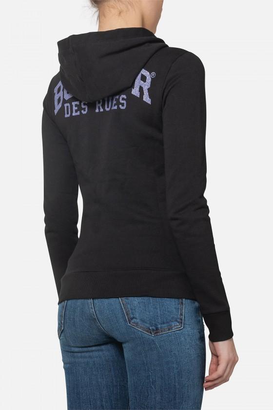 Женский свитшот с логотипом Black-Lilac