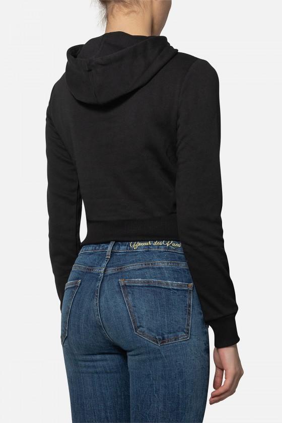 Женская худи с логотипом Black