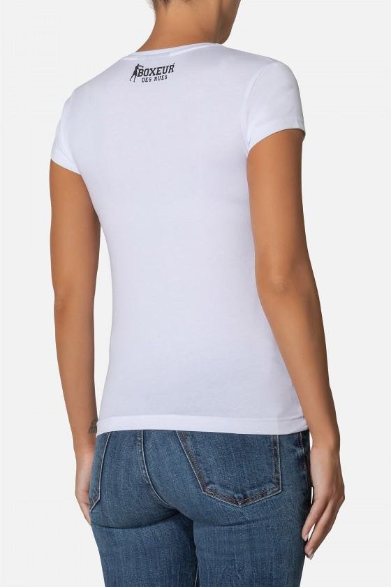 Женская стрейчевая футболка White