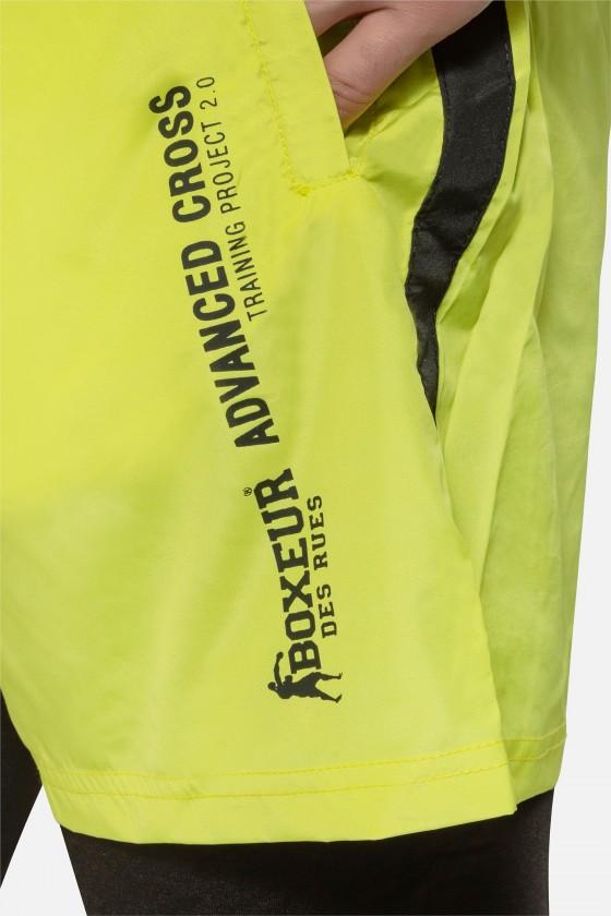 Чоловічі шорти з контрастними вставками Yellow Fluo