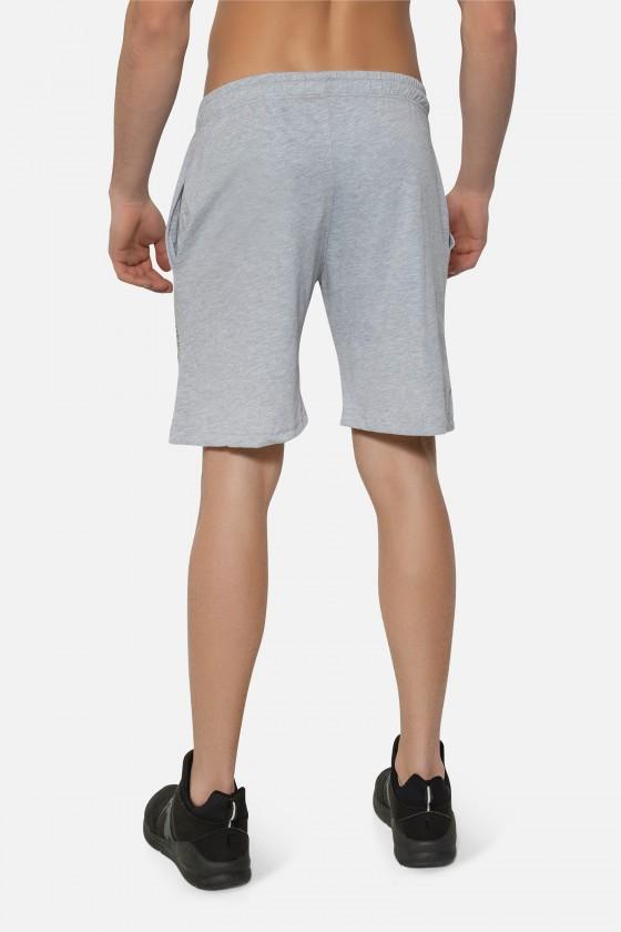 Тренировочные шорты с большим принтом серые