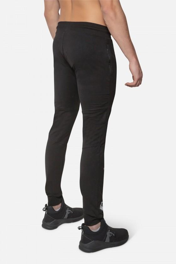 Спортивные штаны с логотипом на ноге Black
