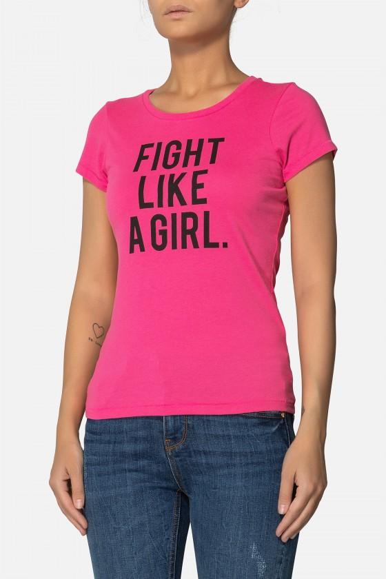 Женская футболка Melange Fuxia