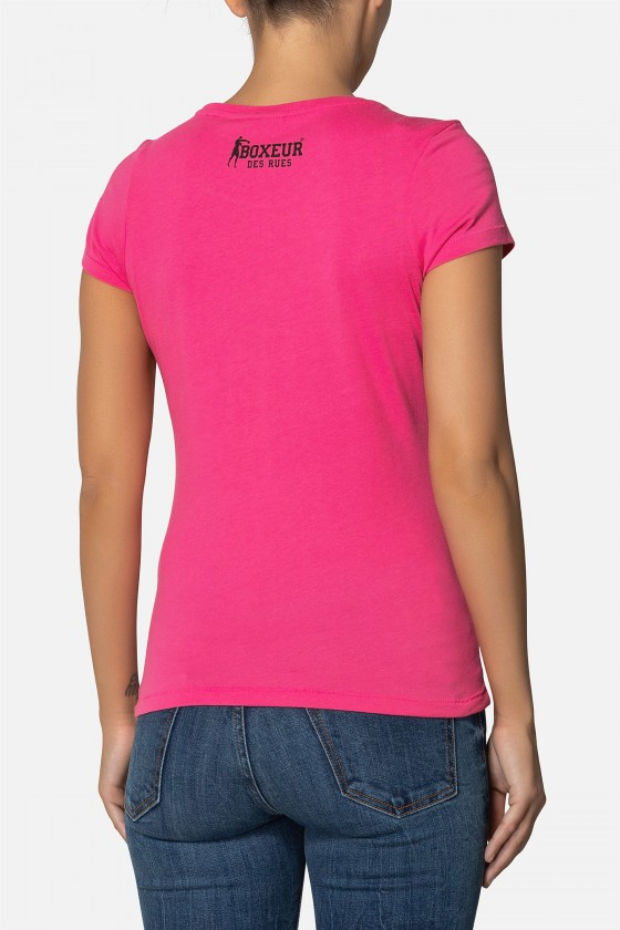 Жіноча футболка Melange Fuxia
