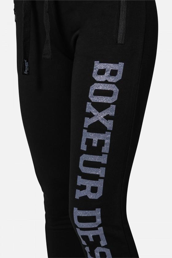 Жіночі штани Basic з логотипом Black-Lilac