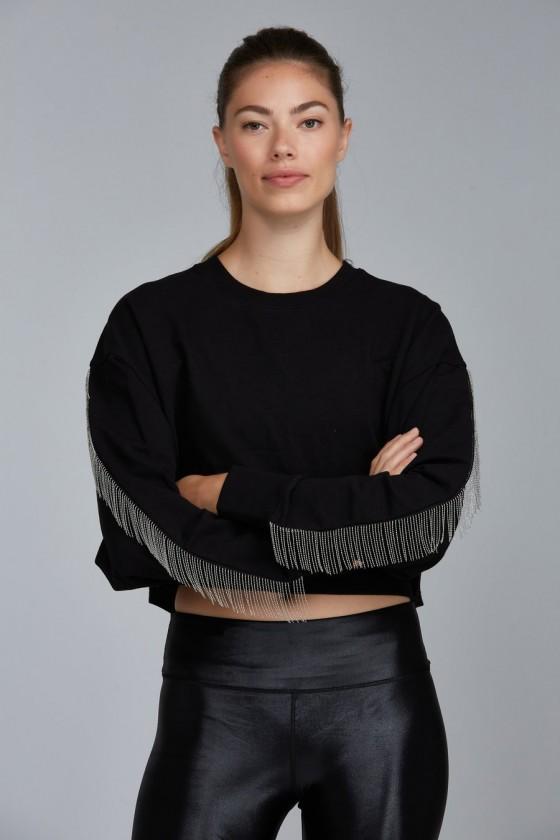 Женский свитшот Fringle Black