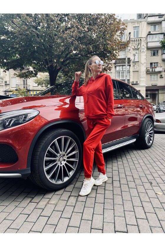 Джоггеры женские Red