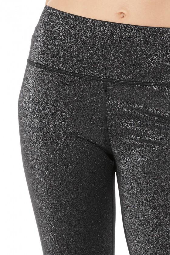 Жіночі легінси High-Waist Glitter Black/Silver