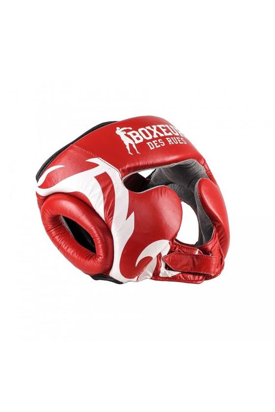 Боксерский шлем с племенным узором красный