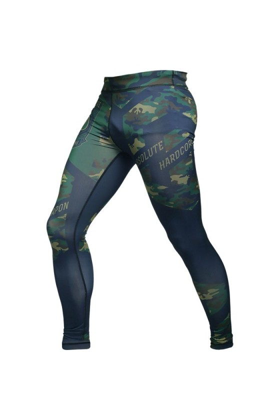 Компрессионные штаны Hardcore Training Absolute Weapon Camo Green