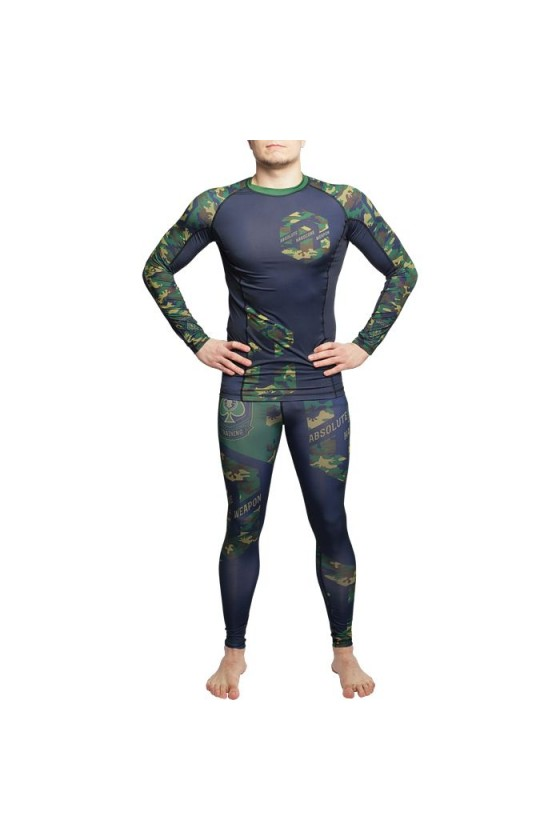 Компресійні штани Hardcore Training Absolute Weapon Camo Green