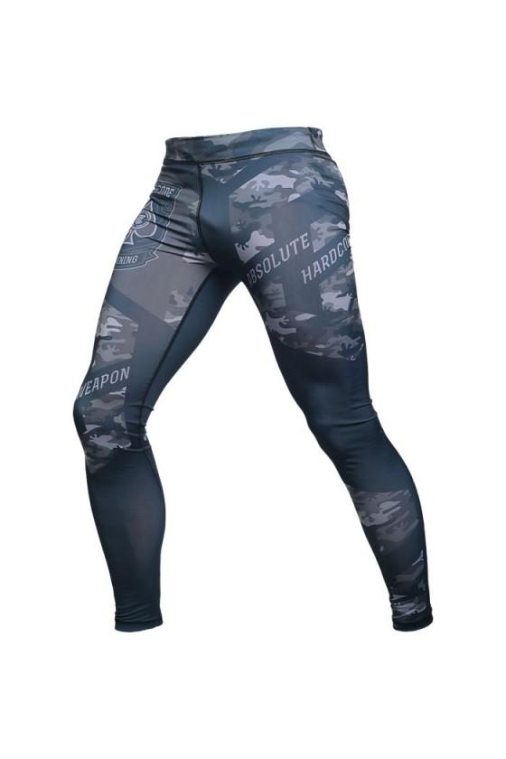Компрессионные штаны Hardcore Training Absolute Weapon Camo Grey