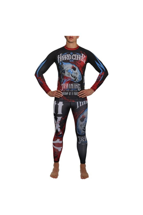 Компресійні штани Hardcore Training Anatomy Of A Fighter Black