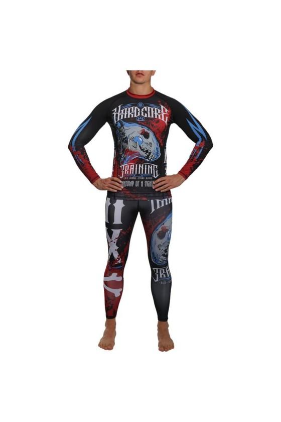 Компрессионные штаны Hardcore Training Anatomy Of A Fighter Black