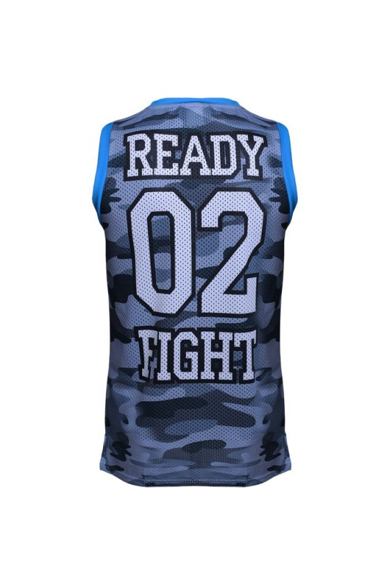 Спортивная майка Jitsu Ready 02 Fight Camo grey