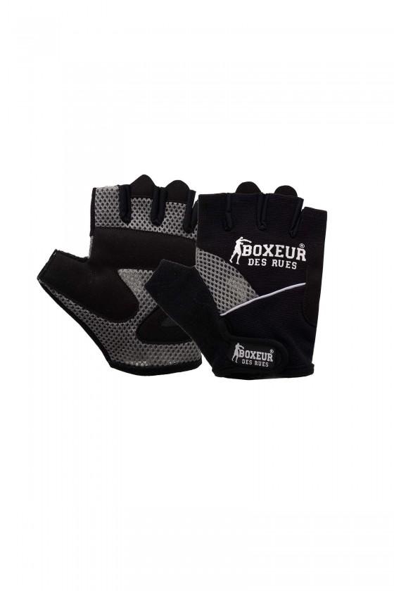 Тренировочные перчатки для фитнеса  и тренажерного зала  черные