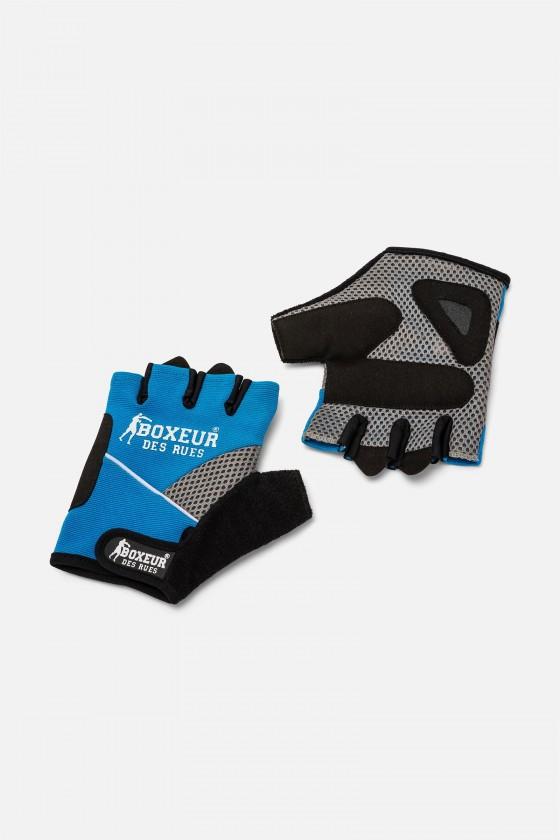 Тренировочные перчатки для фитнеса  и тренажерного зала  голубые