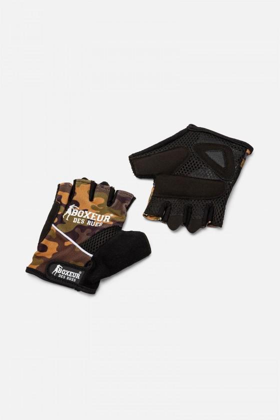 Тренувальні рукавички для фітнесу і тренажерного залу камуфляжні