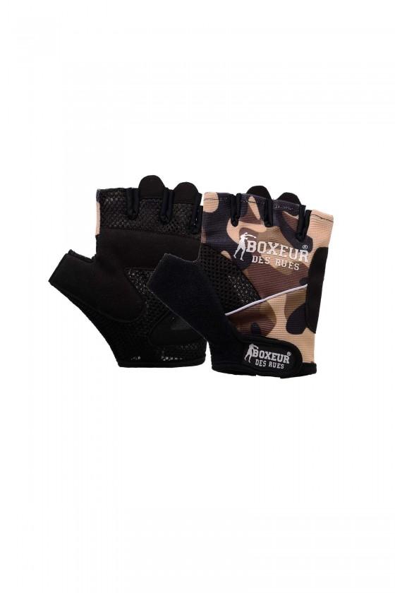 Тренировочные перчатки для фитнеса  и тренажерного зала  камуфляжные