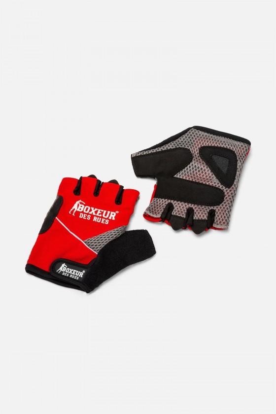 Тренировочные перчатки для фитнеса  и тренажерного зала  красные