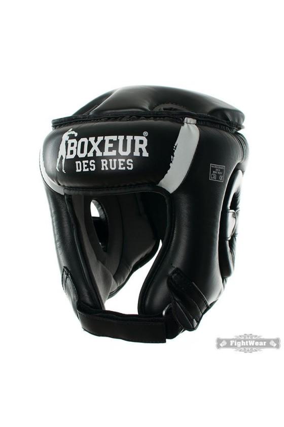 Боксерский шлем с племенным узором черный