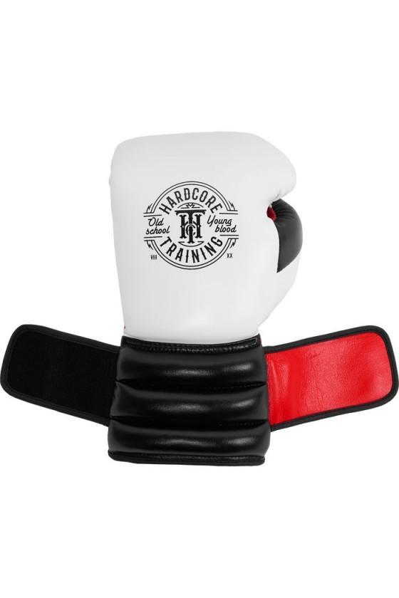 Боксерські рукавички Hardcore Training GRT1 Boxing Gloves White/Black/Red