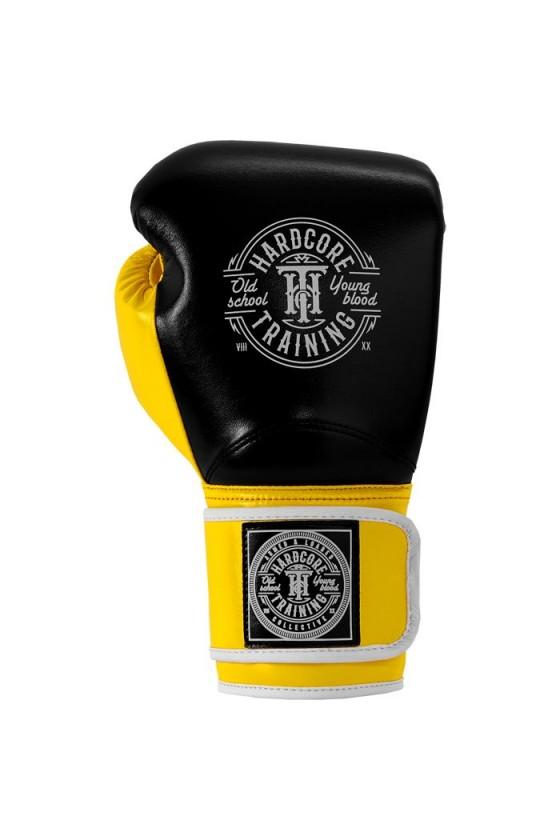Боксерские перчатки Hardcore Training HardLea Black/Yellow