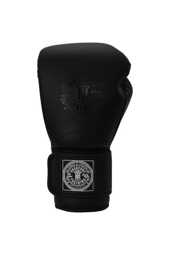 Боксерские перчатки Hardcore Training HardLea+ Matte Black