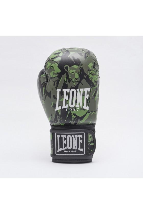 Детские боксерские перчатки Leone Leo Camo зеленые