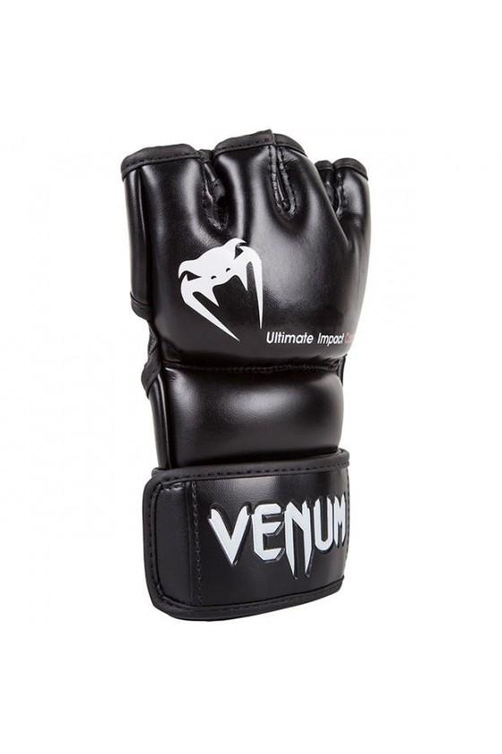 Перчатки MMA Venum Impact Skintex Leather Black