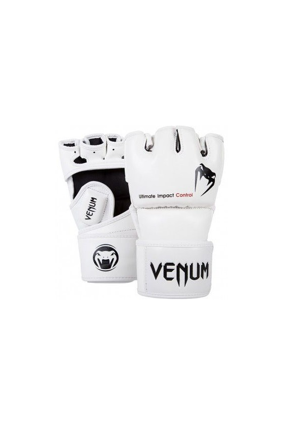 MMA перчатки Venum Impact Skintex Leather White