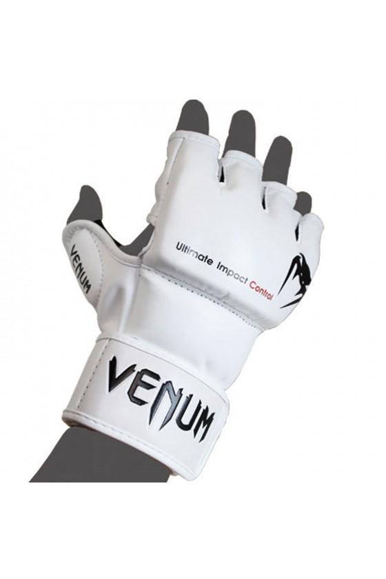MMA рукавички Venum Impact Skintex Leather White