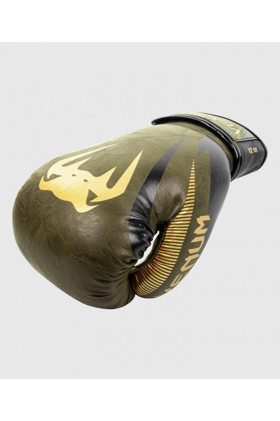 Боксерские перчатки Venum Impact Khaki/Gold