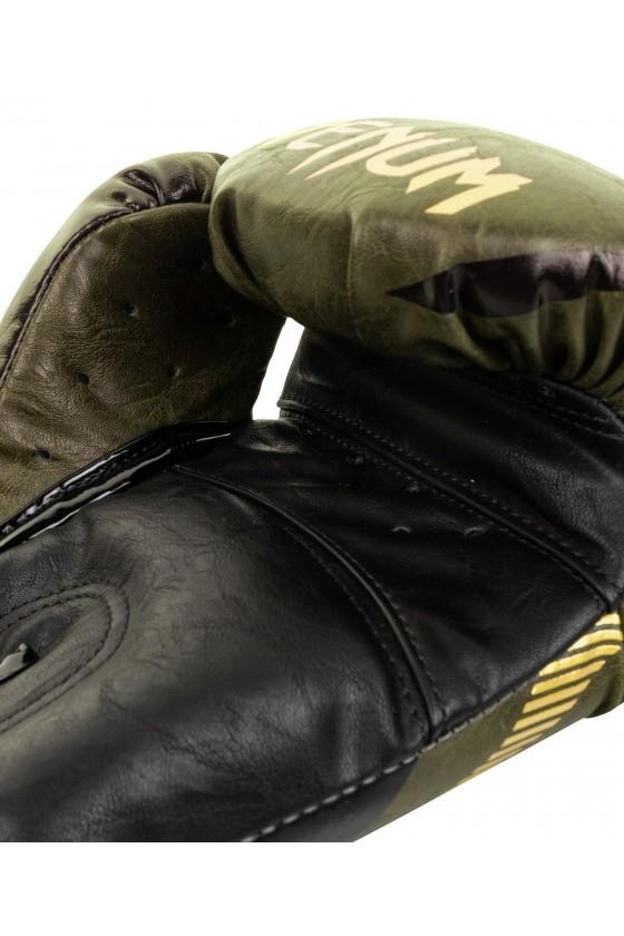 Боксерскі рукавички Venum Impact Khaki/Gold