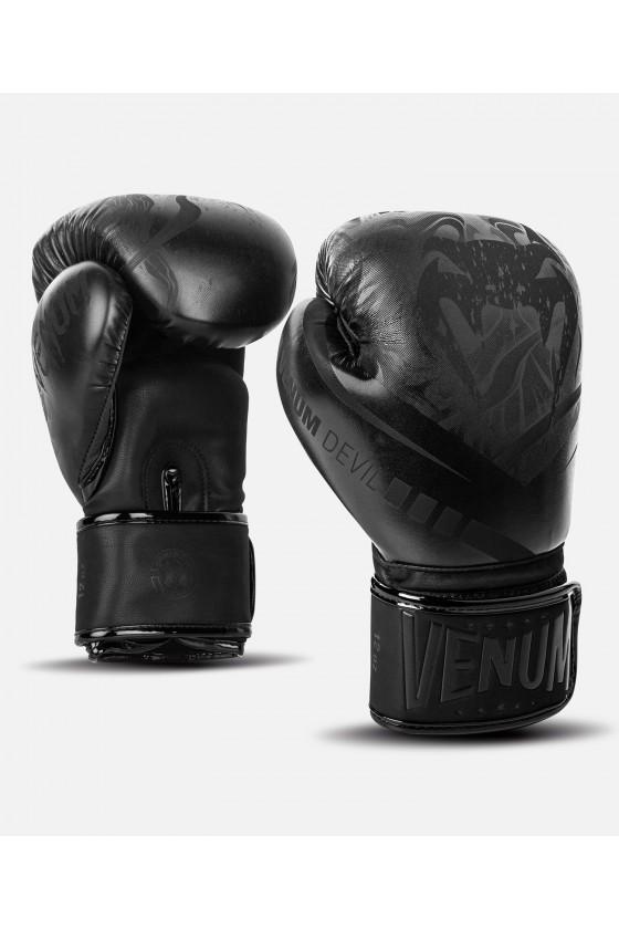 Боксерские перчатки Venum Devil Black/Black