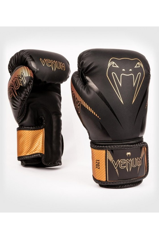 Боксерские перчатки Venum Impact Black/Bronze