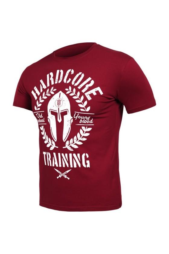 Футболка Hardcore Training Helmet Bordeaux