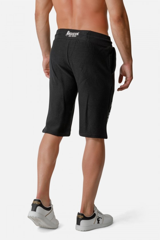 Спортивные шорты с маленьким принтом спереди Black