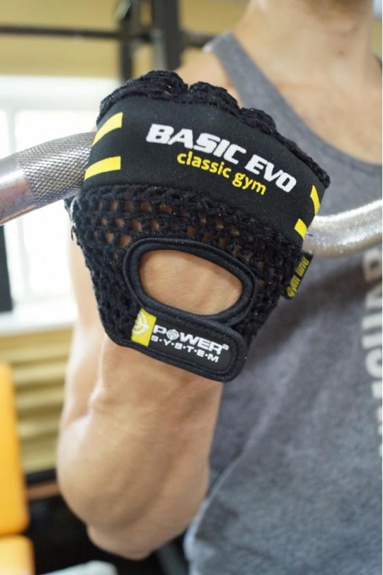Рукавички для фітнесу Power System Evo Black / Yellow