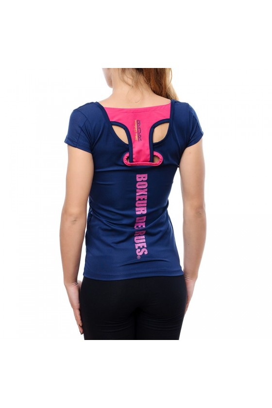 Жіноча футболка-майка темно-синя