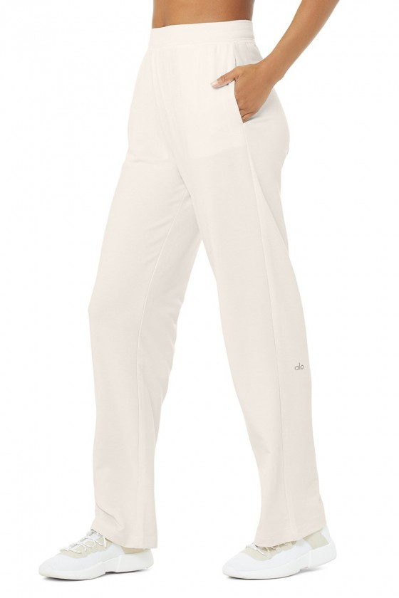Спортивные штаны High-Waist Dreamy Wide Leg Ivory