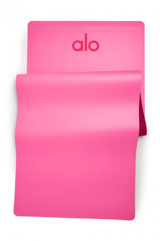 Набір для йоги (килимок+ ремінь 2-in-1) Hot Pink