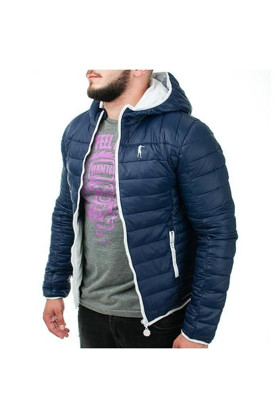Куртка на замке темно-синяя