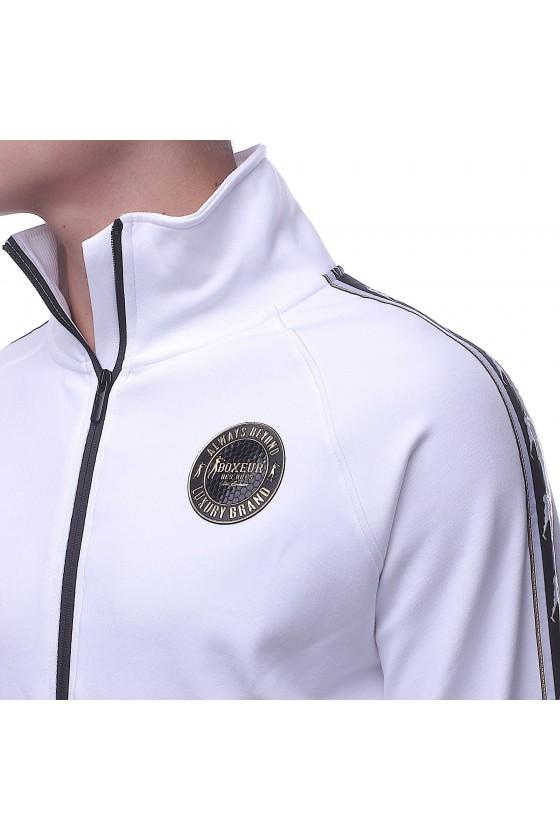 Олимпийка белая с эмблемой на груди