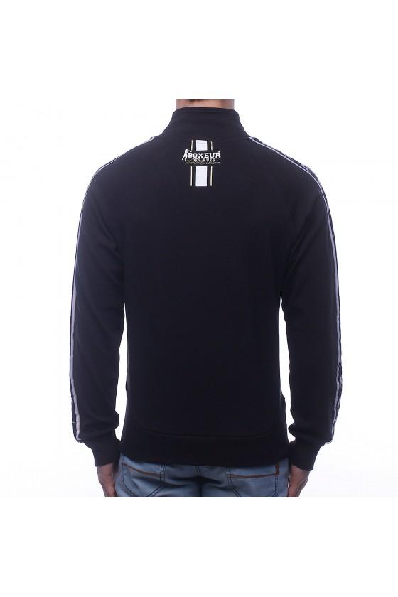 Олимпийка черная с эмблемой на груди