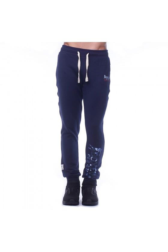 Спортивные штаны синие с...