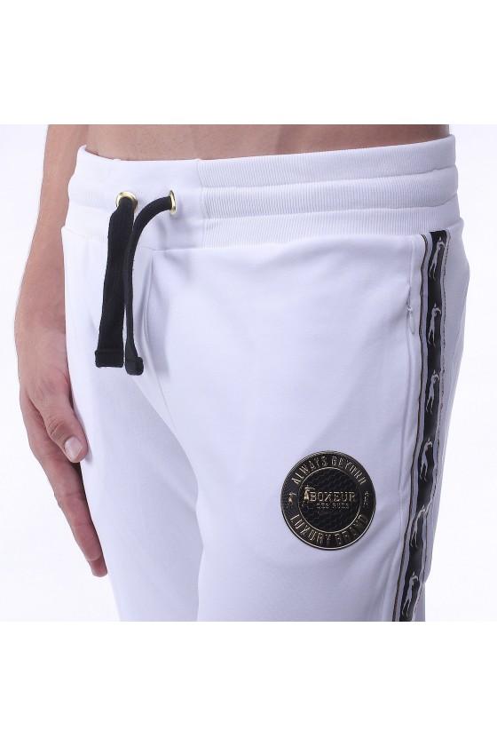 Спортивные штаны белые с эмблемой